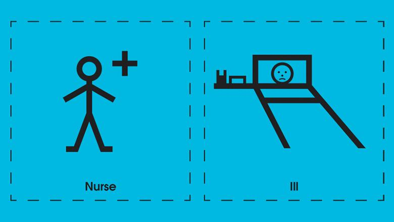 Makaton signs for nurse and ill
