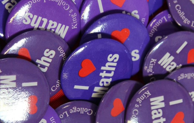 'I love Maths' badges