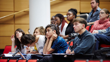 Students in a lecture at King's College London