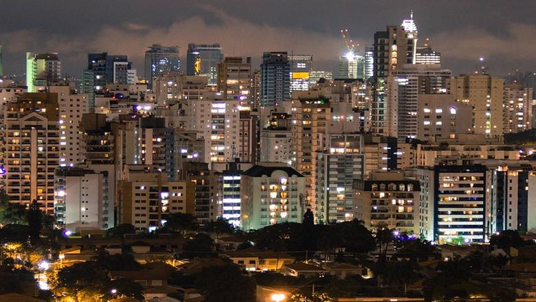 Sao Paolo, Brazil, by night