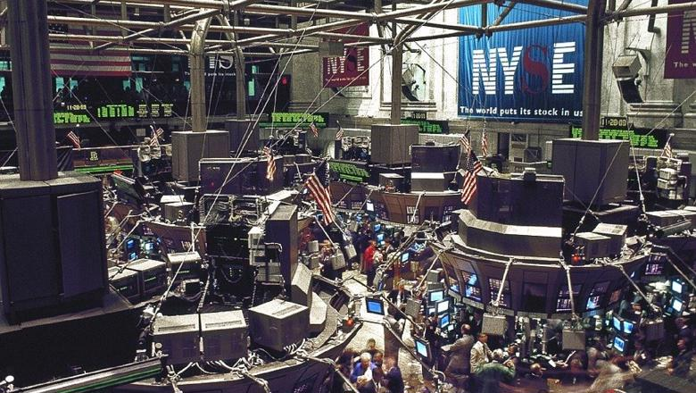 Stock market floor in New York