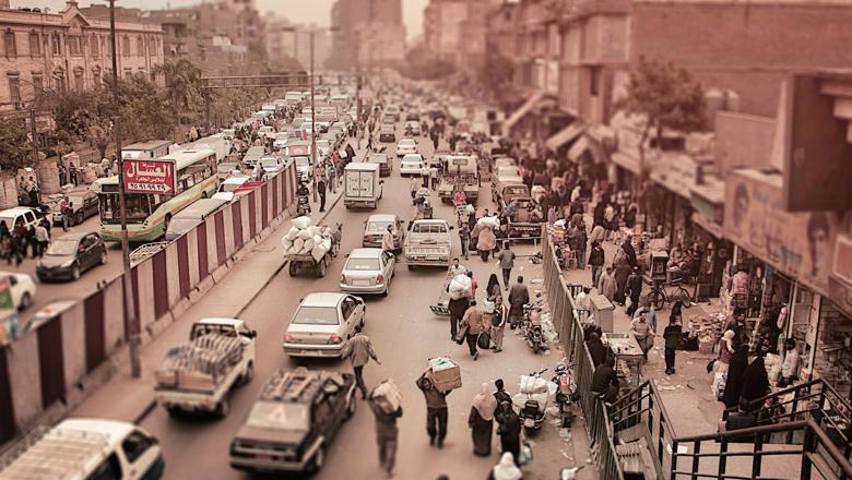 Busy African city street