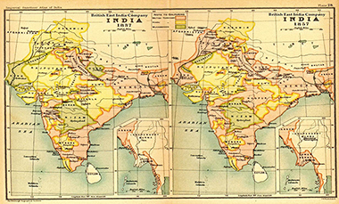 Map of India in 1900s