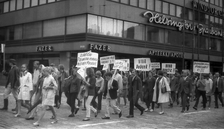 People marching