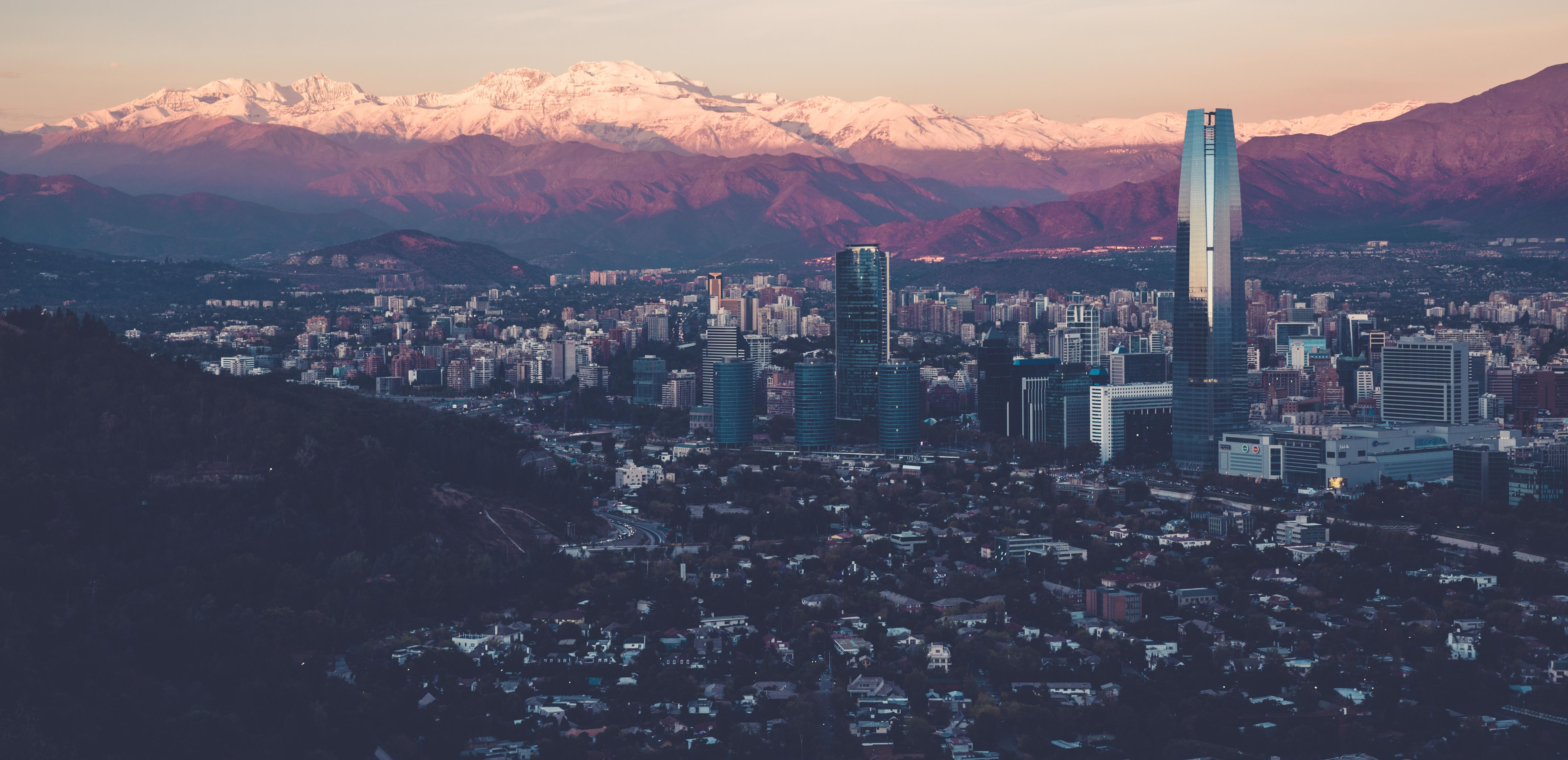 Aerial view of Santiago, Chile