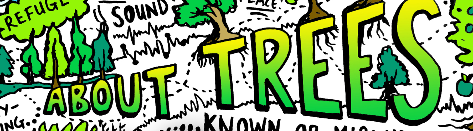About Trees live sketch note
