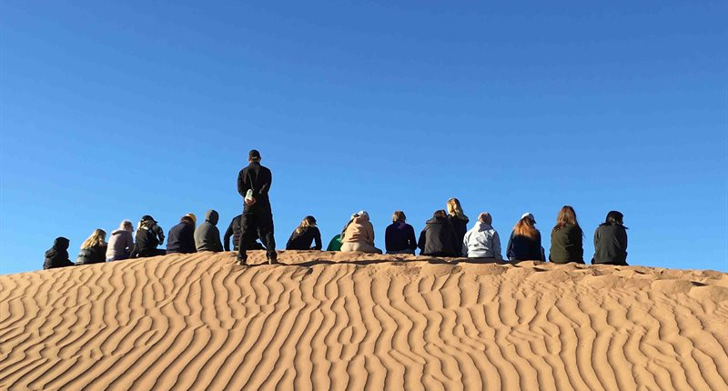 Milling About On A Dune by Dr Michael Chadwick