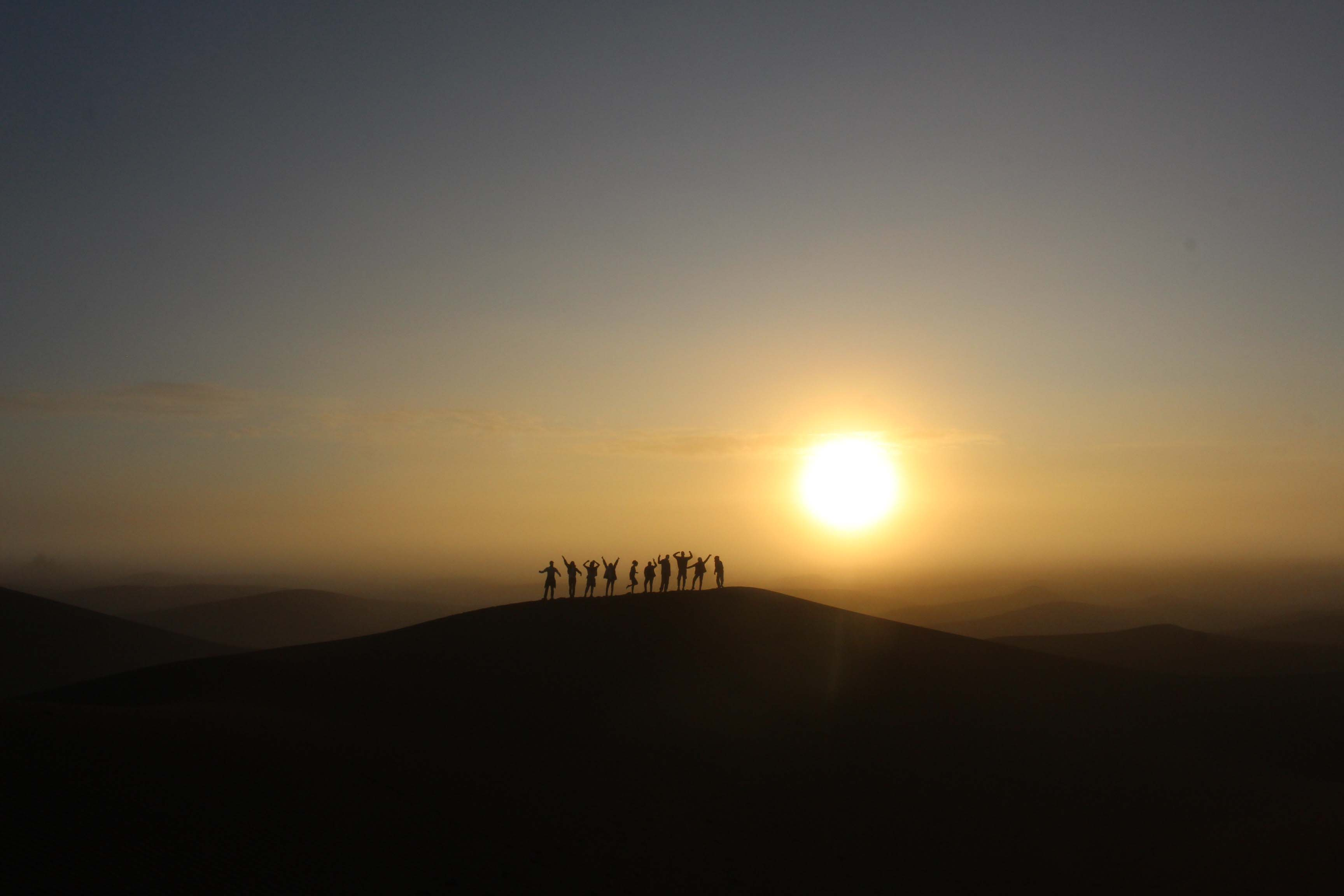 Silhouettes in the Sahara by Heather Needham