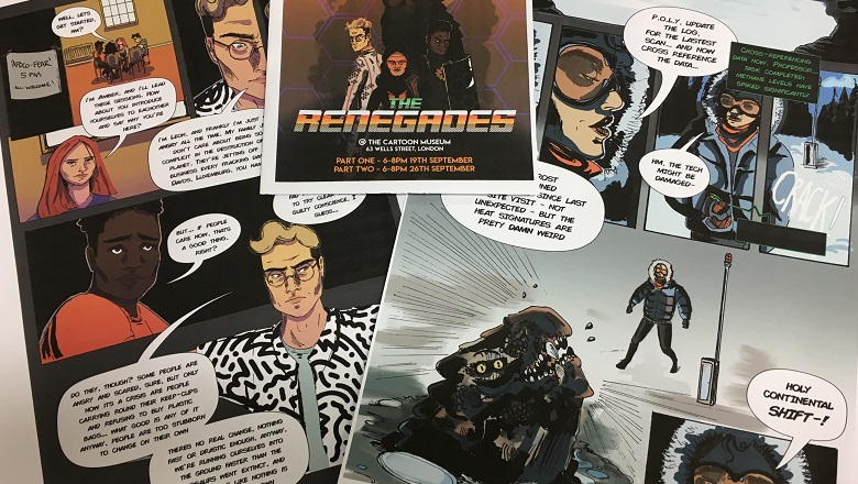 Images from climate change comic The Renegades