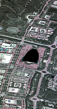 Infrared image over Milton Keynes