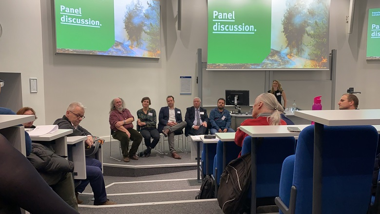 Panel discussion at the launch of the wildfire centre