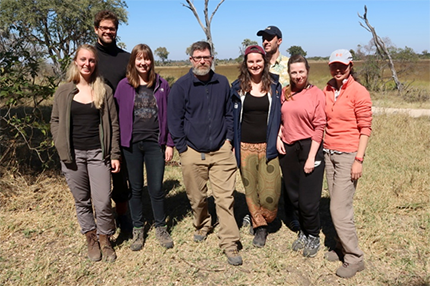 Students on Okavango field trip