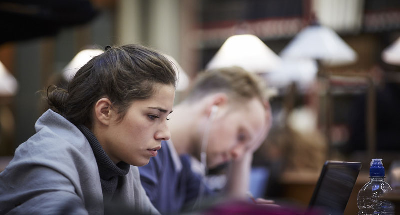 Students in the Maughan Library
