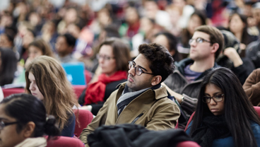 Students in a lecture, King's College London