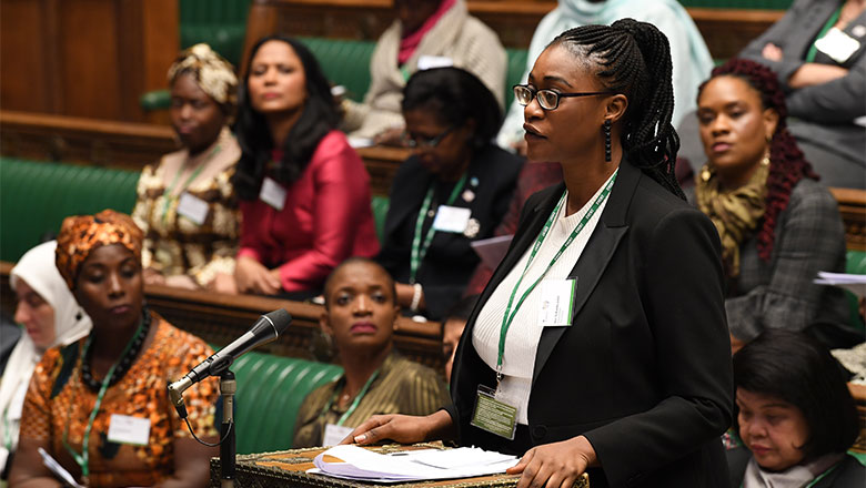 woman in parliament