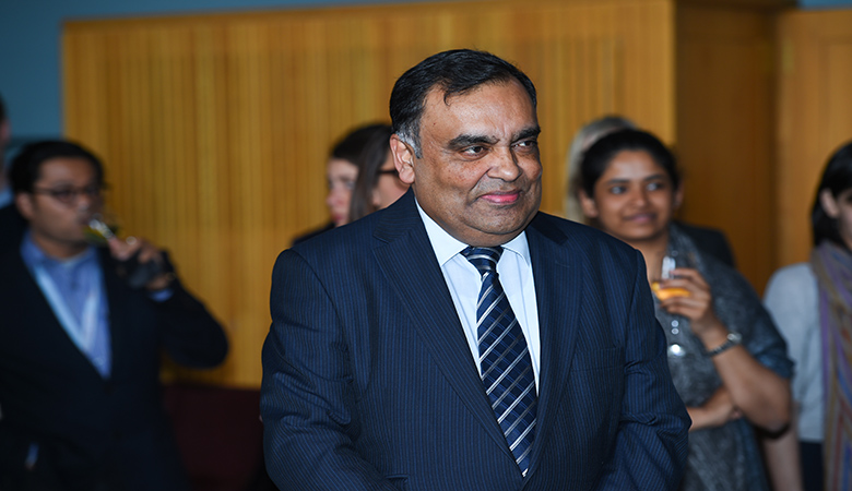 His Excellency the Indian High Commissioner to the UK, Mr YK Sinha