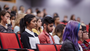 King's College London students in a lecture