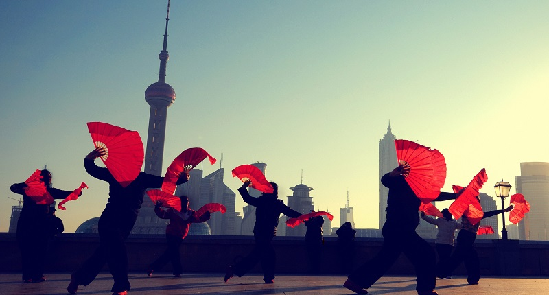 Dancers in Shanghai