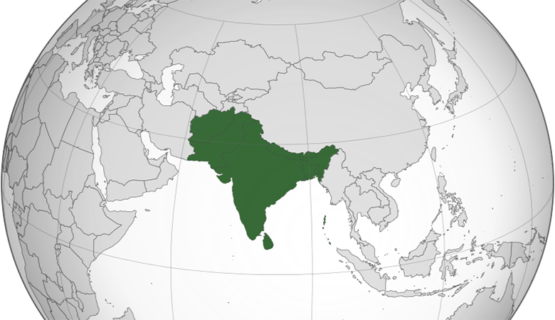 A map of South Asia