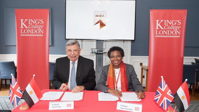 King's and NGU sign the agreement for a new NGU Economics programme