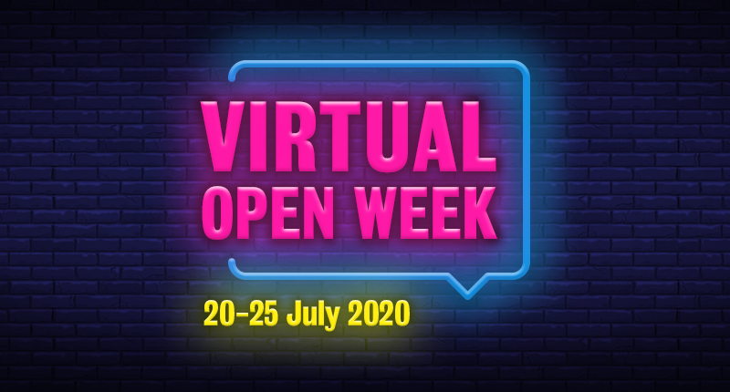 Virtual open week 20-25 July 2020