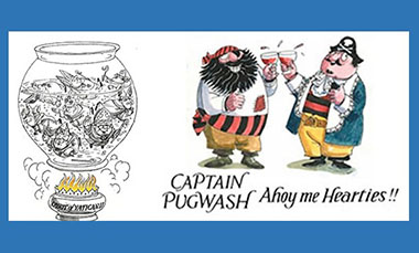 Cartoon images of Captain Pugwash and Spirit of Vatican II by John Ryan, originally produced for Michael Davies' book The Church Since Vatican II (1985)
